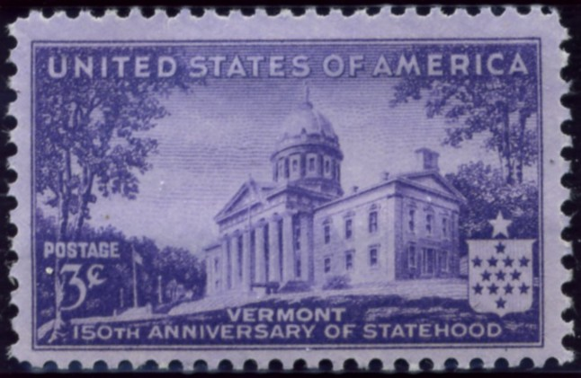 Scott 903 3 Cent Stamp Vermont Statehood