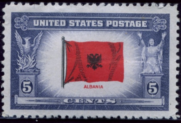 Scott 918 5 Cent Stamp Overrun Countries Issue Albania