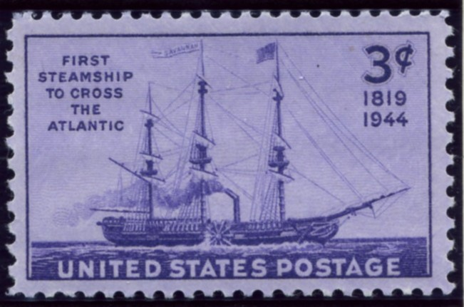 Scott 923 3 Cent Stamp First Steamship Across the Atlantic