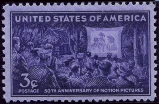 Scott 926 3 Cent Stamp Motion Pictures