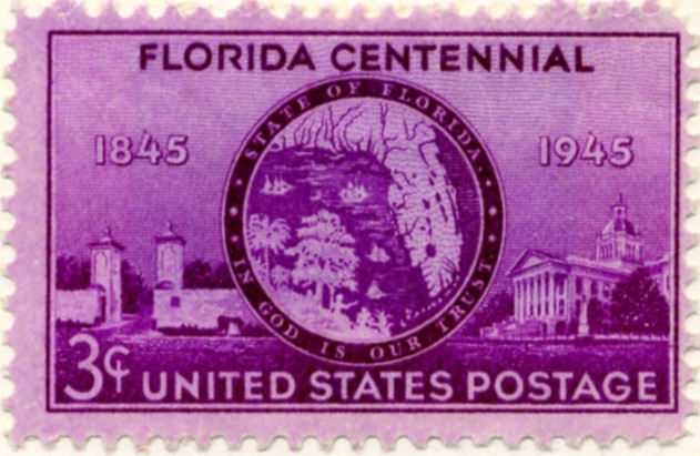 Scott 927 3 Cent Stamp Florida Centennial a