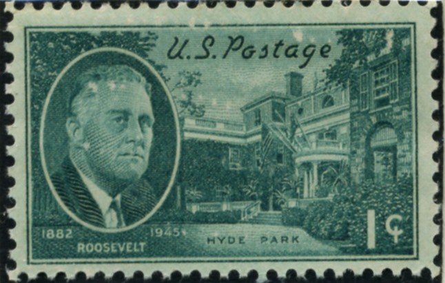 Scott 930 1 Cent Stamp Roosevelt - Hyde Park