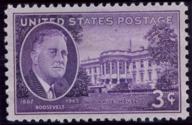 Scott 932 3 Cent Stamp Roosevelt - White House