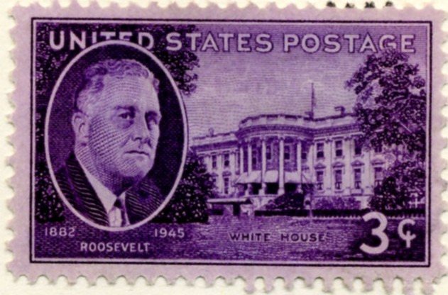 Scott 932 3 Cent Stamp Roosevelt - White House a