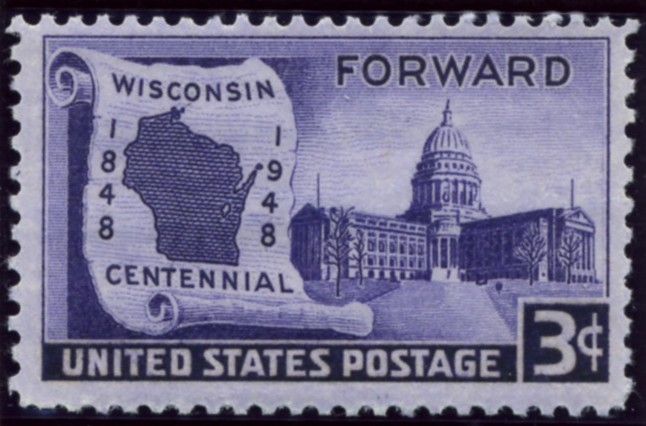 Scott 957 3 Cent Stamp Wisconsin Centennial