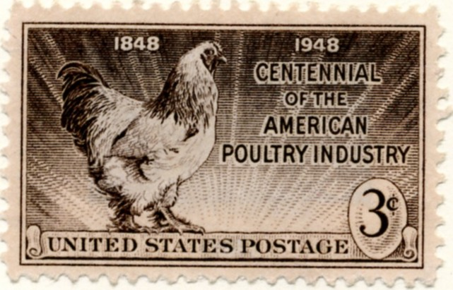 Scott 968 3 Cent Stamp Poultry Industry Centennial a