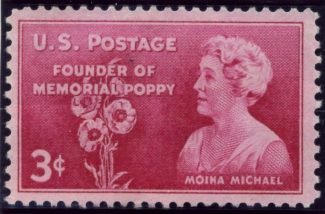Scott 977 3 Cent Stamp Moina Michael Memorial Poppy