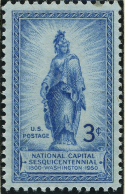 Scott 989 3 Cent Stamp Capitol Dome Statue