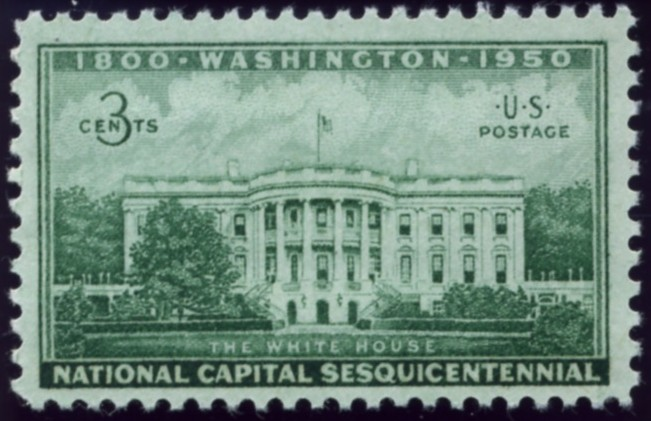 Scott 990 3 Cent Stamp White House