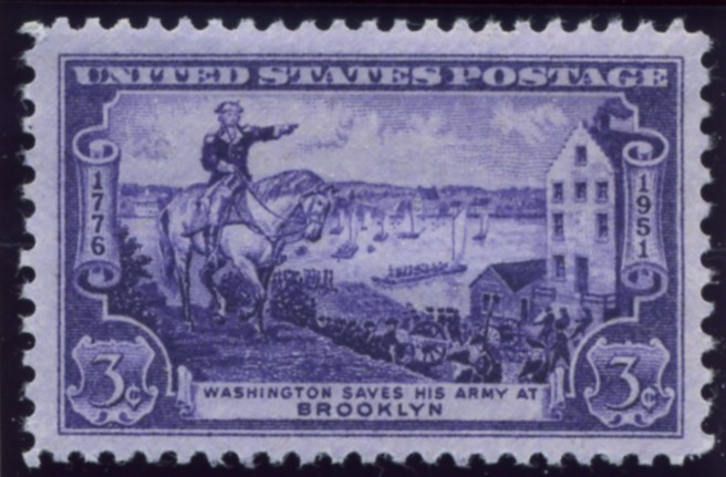 Scott 1003 3 Cent Stamp Washington Saves His Army Battle of Brooklyn