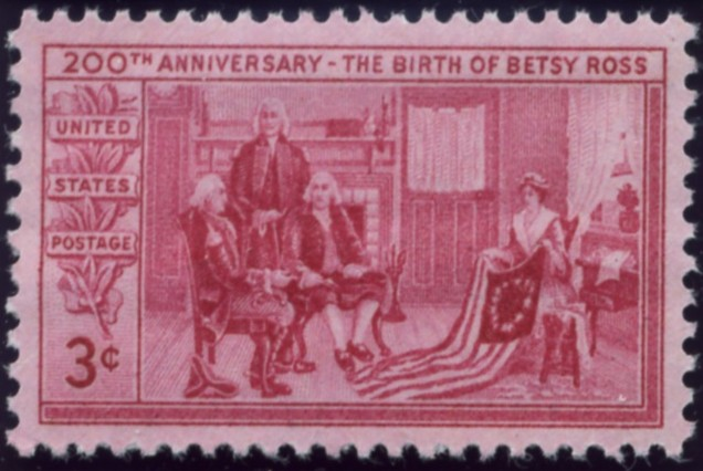 Scott 1004 3 Cent Stamp Birth of Betsy Ross