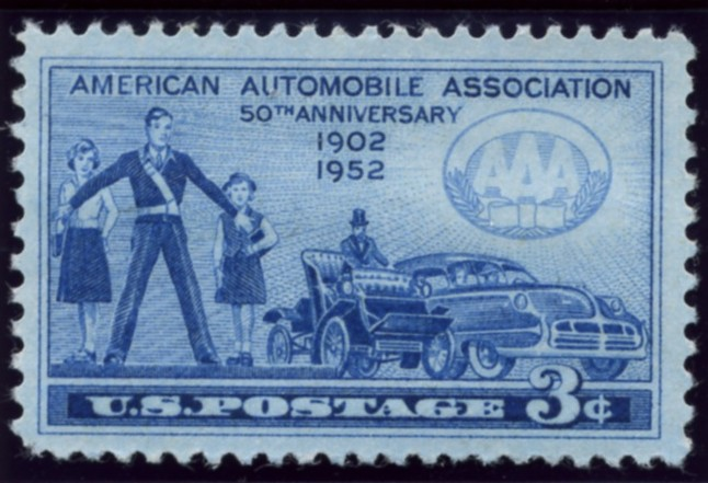 Scott 1007 3 Cent Stamp A. A. A. American Automobile Association Anniversary