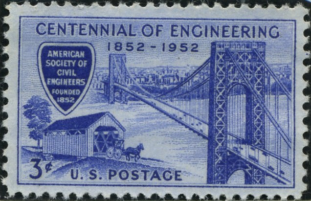 Scott 1012 3 Cent Stamp American Society of Civil Engineers