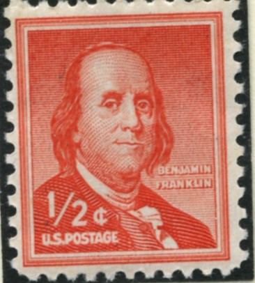 Scott 1030 1/2 Cent Stamp Benjamin Franklin