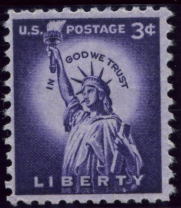 Scott 1035 3 Cent Stamp Statue of Liberty