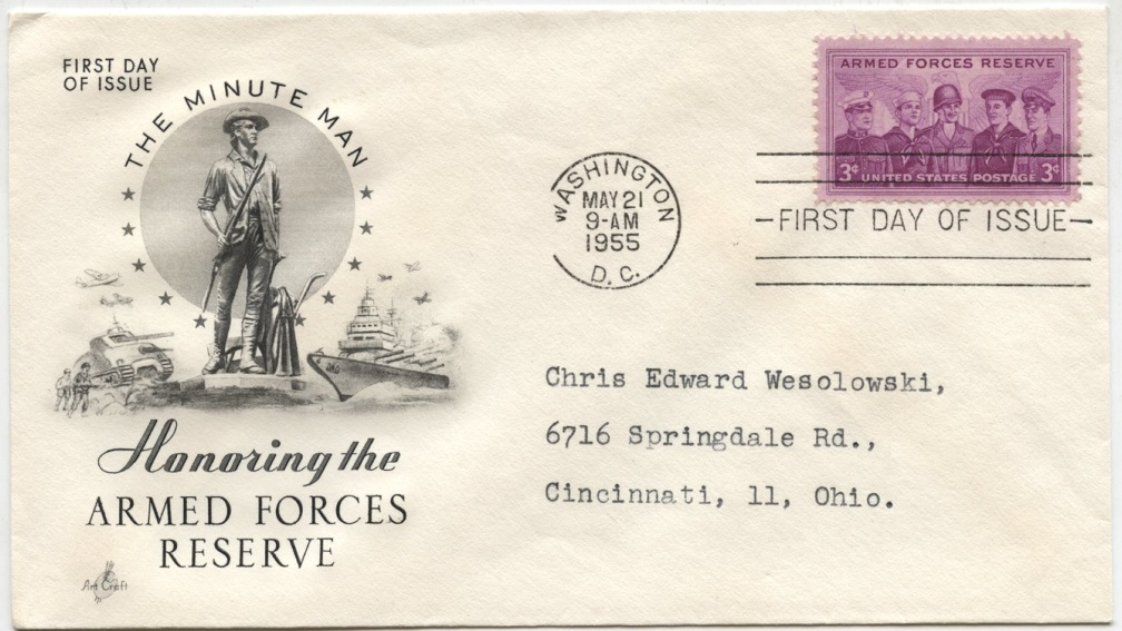 Scott 1067 3 Cent Stamp Armed Forces Reserves