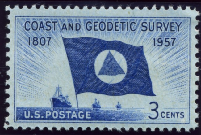 Scott 1088 3 Cent Stamp Coast and Geodetic Survey