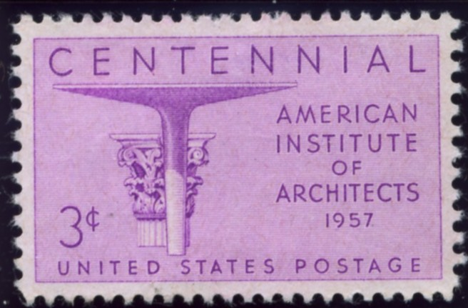 Scott 1089 3 Cent Stamp Centennial American Institute of Architects