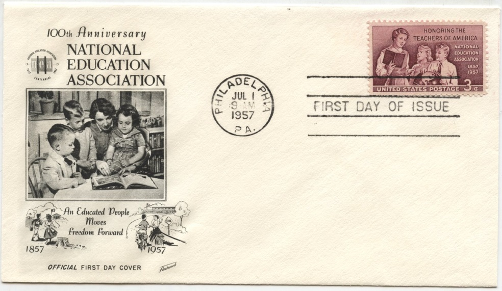 Scott 1093 3 Cent Stamp Teachers of America National Education Association First Day Cover
