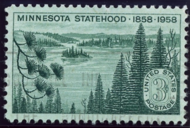 Scott 1106 3 Cent Stamp Minnesota Statehood Centennial