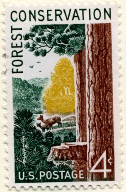Scott 1122 4 Cent Stamp Forest Conservation a