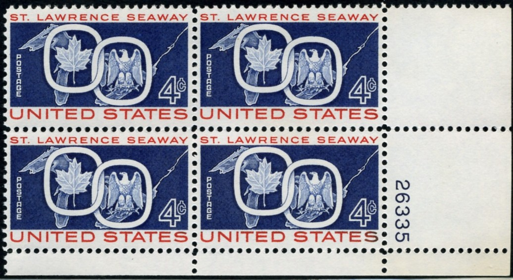 Scott 1131 4 Cent Stamp St Lawrence Seaway Plate Block