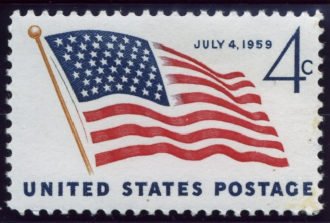 Scott 1132 4 Cent Stamp 49 Star U. S. Flag