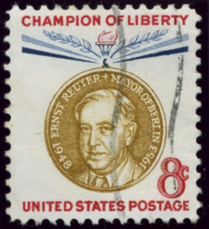 Scott 1137 8 Cent Stamp Ernst Reuter