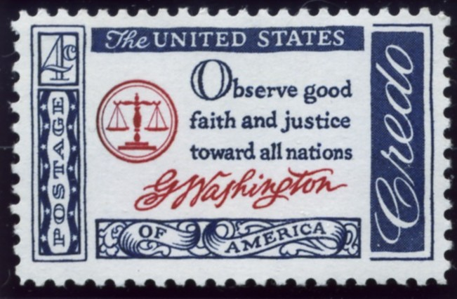 Scott 1139 4 Cent Stamp Credo - Washington