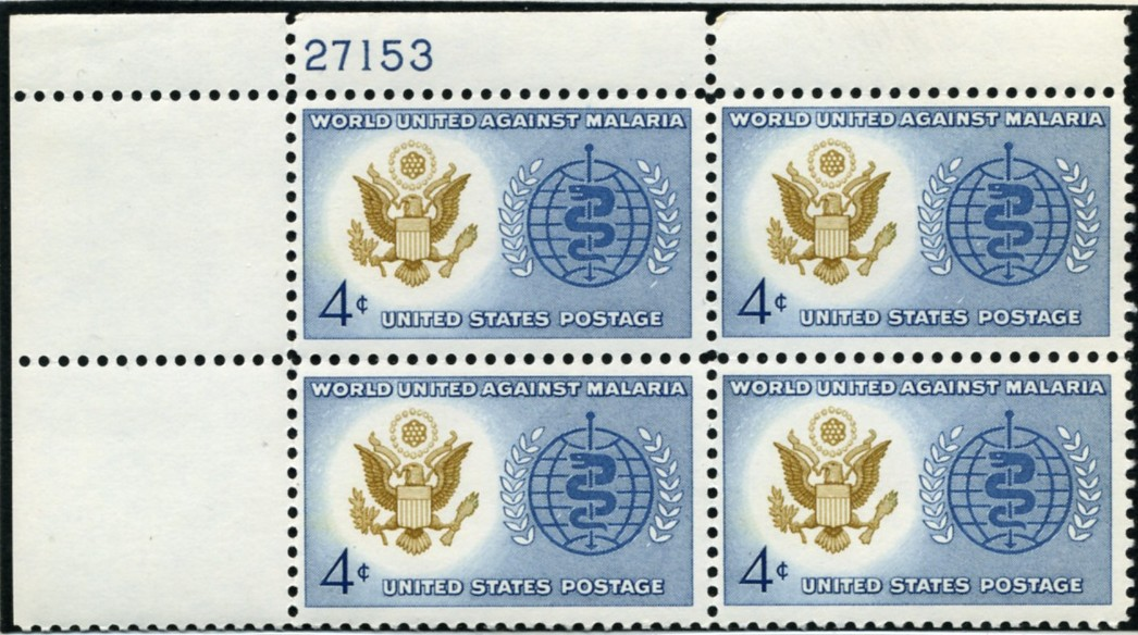 Scott 1194 4 Cent Stamp Malaria Eradication Plate Block