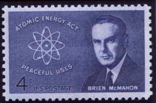 Scott 1200 4 Cent Stamp Brien McMahon Atomic Energy Act