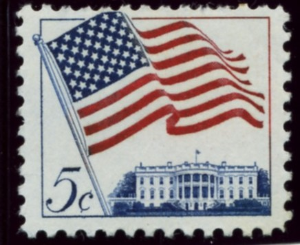 Scott 1208 5 Cent Stamp U S Flag Definitive
