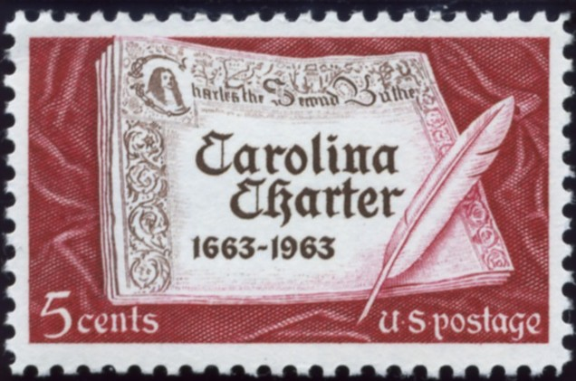 Scott 1230 5 Cent Stamp Carolina Charter