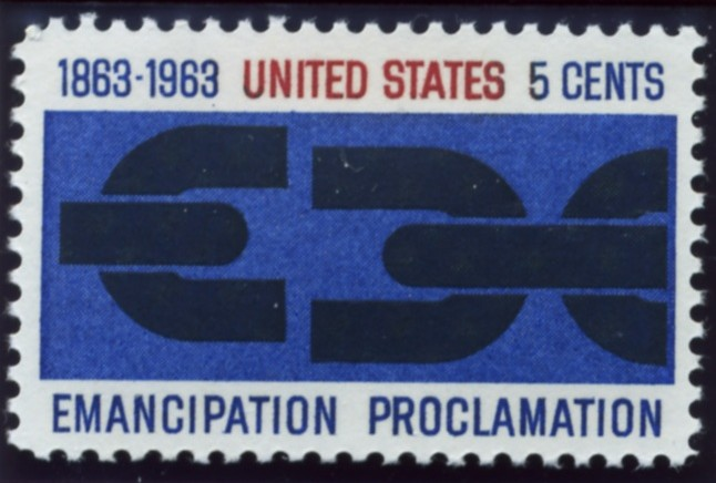 Scott 1233 5 Cent Stamp Emancipation Proclamation