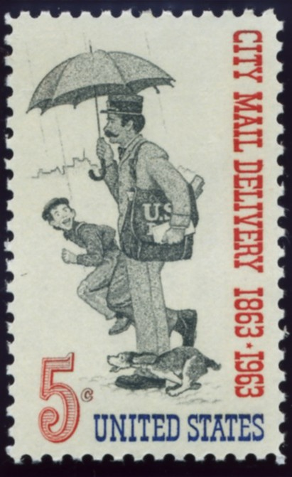 Scott 1238 5 Cent Stamp City Mail Delivery