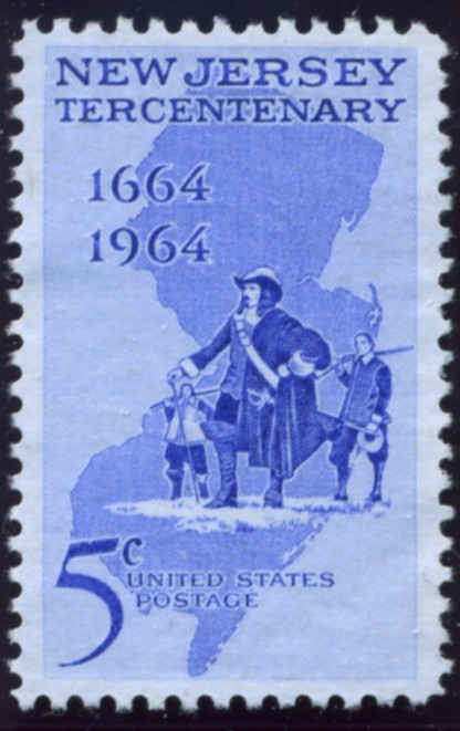 Scott 1247 5 Cent Stamp New Jersey Statehood Tercentenary