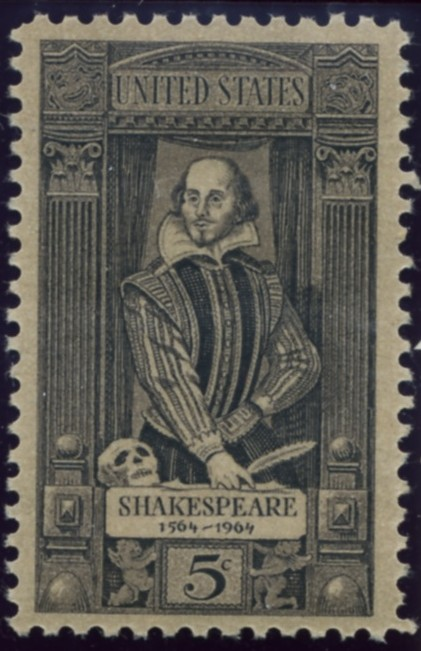 Scott 1250 5 Cent Stamp William Shakespeare
