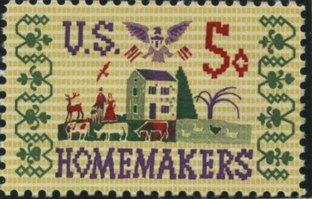 Scott 1253 5 Cent Stamp Homemakers
