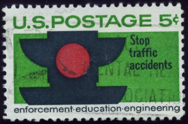 Scott 1272 5 Cent Stamp Traffic Safety Stop Accidents