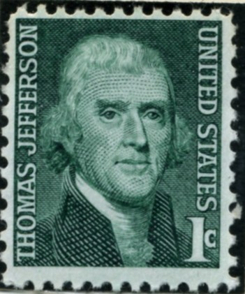 Scott 1278 1 Cent Stamp Thomas Jefferson