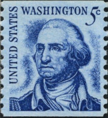 Scott 1304 5 Cent Stamp George Washington perforated 10 vertically