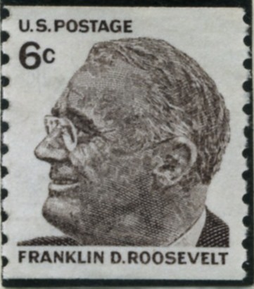 Scott 1305 6 Cent Stamp Franklin D Roosevelt perforated 10 vertically