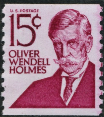 Scott 1305E 15 Cent Stamp Oliver Wendell Holmes perforated 10 vertically