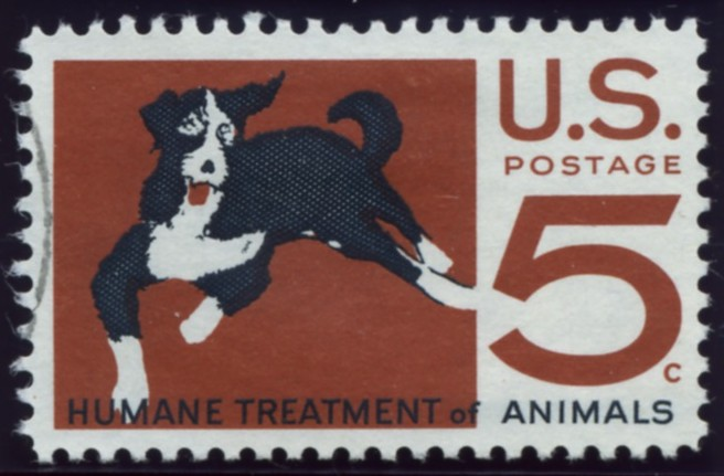 Scott 1307 5 Cent Stamp Humane Treatment of Animals