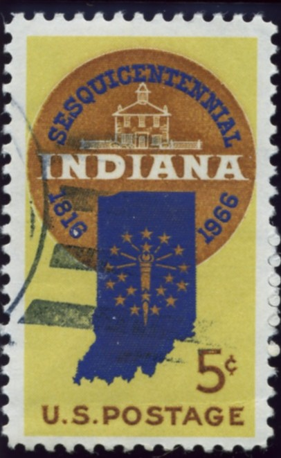 Scott 1308 5 Cent Stamp Indiana Statehood
