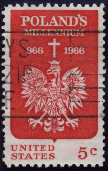 Scott 1313 5 Cent Stamp Polish Millennium