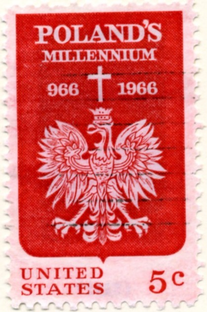 Scott 1313 5 Cent Stamp Polish Millennium a