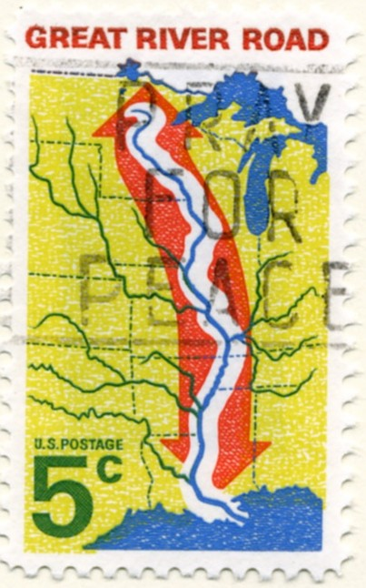 Scott 1319 5 Cent Stamp Great River Road a