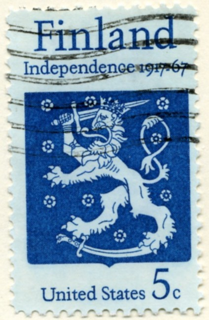 Scott 1334 5 Cent Stamp Finland Independence