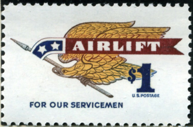 Scott 1341 $1 Dollar Stamp Airlift